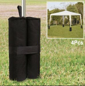 NEW 4PACK Outdoor Weight Bag Set for Pop-Up Canopy Outdoor Garden Party Tent Black for Sale in Ontario, CA