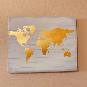 World Map Canvas Painting for Sale in Lubbock, TX