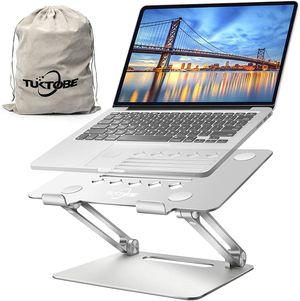 Laptop Stand, Ergonomic Height Angle Adjustable Laptop Holder Aluminum Notebook Stand Riser with Heat-Vent Computer Stand for Desk for Sale in Syosset, NY