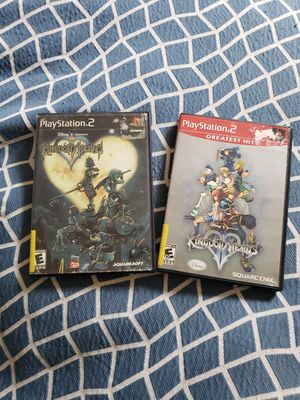 Kingdom Hearts 1 & 2 PS2 Video Game Bundle for Sale in Fairfax, VA