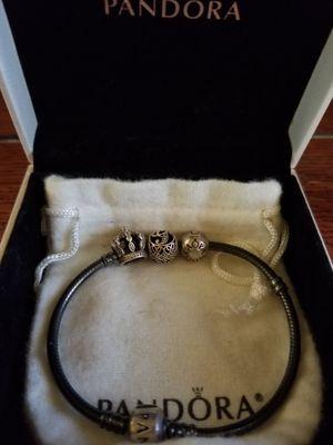 Authentic Pandora bracelet w/2 charms & 1 clip Read description for Sale in Temple Hills, MD