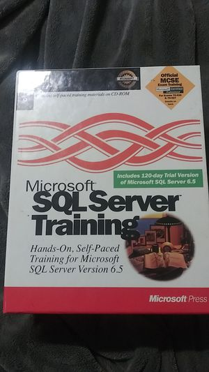 Microsoft sol server training. for Sale in Riverside, CA