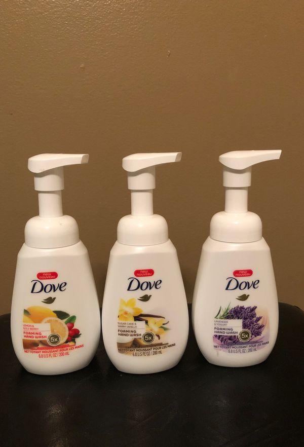 3 Dove foaming hand soap