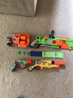 4 gun nerf bundle for Sale in Portland, OR