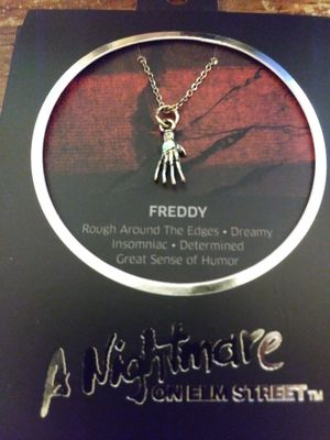 FREDDY KRUEGER charm necklace. New for Sale in Chicago Ridge, IL