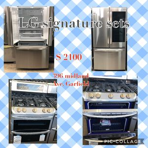 LG. Signature stainless steel for Sale in Garfield, NJ