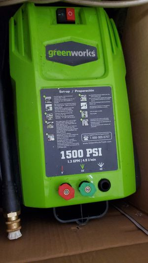 Greenworks 1500 PSI electric pressure washer for Sale in San Jose, CA