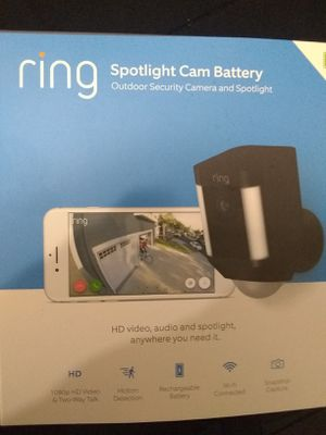 Ring spotlight cam battery black for Sale in Riverside, CA