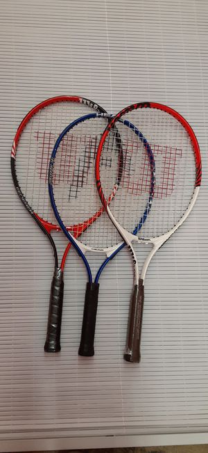 "3 - Quality ""Wilson"" Tennis Rackets for Sale in Tacoma, WA"