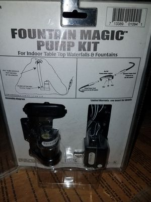 Fountain magic pump kit for Sale in Passaic, NJ