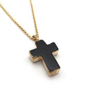 Black Friday: Natural Black Tourmaline Cross Gemstone Pendant Necklace for Sale in Scottsdale, AZ