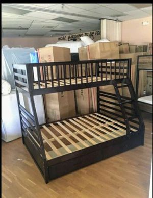 Twin over Full Bunk Bed with Drawers for Sale in Glendale, AZ