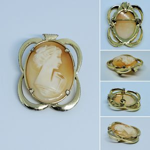 "Vintage Cameo Shell 1 1/4"" Brooch Pendant for Sale in Ocala, FL"