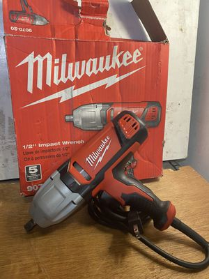 Milwaukee half-inch impact wrench with detent pin And rocker switch for Sale in San Bernardino, CA