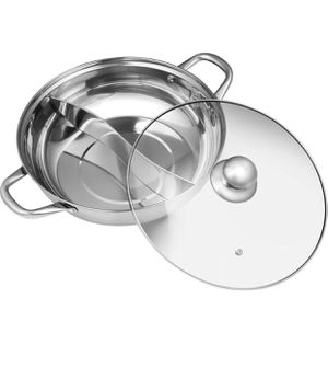 Stainless steel fondue pot mandarin duck pot chafing dish for Sale in Las Vegas, NV