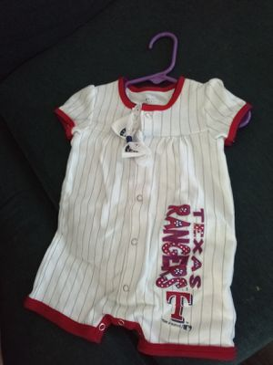 Size 6-9 m baby girl tx rangers for Sale in Fort Worth, TX
