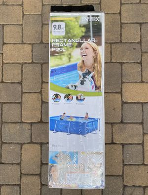 Intex 9.8ft x 29.5in Kids Rectangular Frame Outdoor Above Ground Swimming Pool for Sale in Los Altos, CA