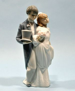 Retired LLADRO Wedding Bells Bride & Groom Figurine #6164 Mint w/Box for Sale in San Jose, CA