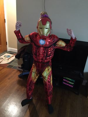 Iron man costume size medium (fits kids 7-9) for Sale in Pittsburgh, PA