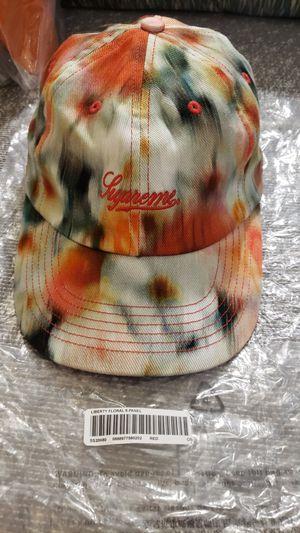 Supreme Liberty floral print hat OSFA. White/orange/yellow/dark green for Sale in Everett, WA