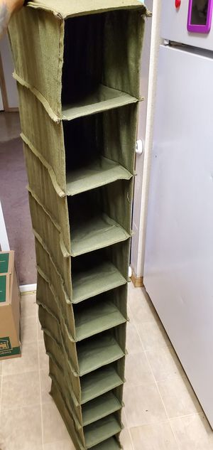 Army green closet hanging shoe rack organizer for Sale in Shelton, WA