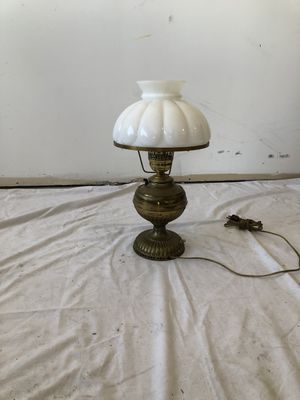 Brass Table Lamp w/ Glass Shade for Sale in Chicago, IL