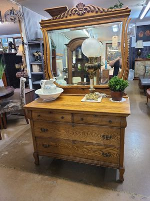 Antique Dresser w/ mirror 🌞 Another Time Around Furniture 2811 E. Bell Rd for Sale in Phoenix, AZ