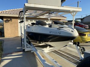 Seadoo speedster boat and double deck trailer (PRICE REDUCED ) for Sale in Hesperia, CA