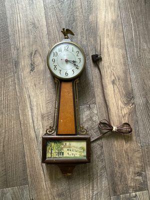 Vintage Sessions Mahogany Banjo Wall Clock for Sale in Davis, CA