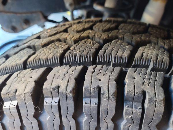 Jeep Mastercraft tires 31x10.50x15 on 5x4.5 steel wheels
