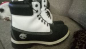 White and Black Timberland work boots for Sale in Riverdale, GA