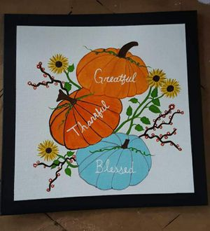 Hand painted fall painting for Sale in Haines City, FL
