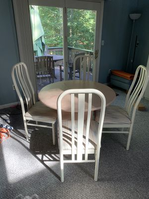 Dinette/ Breakfast round table with 4 chairs for Sale in Sharon, MA