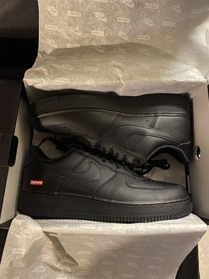 Supreme Air Force 1 Low Box Logo Black size 8 9 12 13 NEW for Sale in Santa Ana, CA