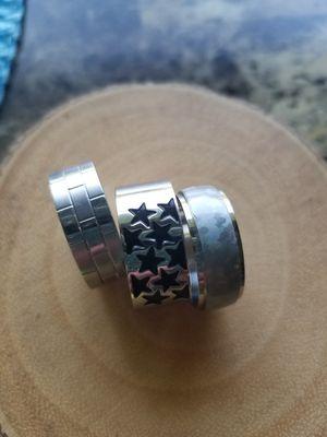 New Unisex Stainless Steel Rings size 8.5 - Men's/Women's for Sale in Tecumseh, MI