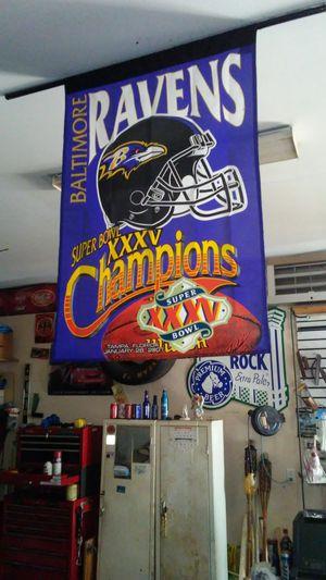 Ravens Super Bowl 35 champion Banner for Sale in New Windsor, MD
