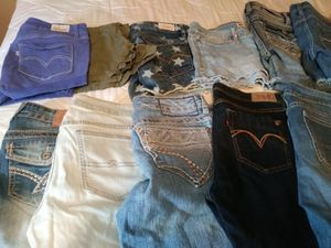 Womens jean shorts and capris for Sale in Tampa, FL