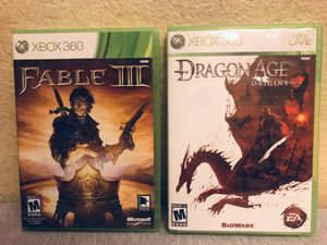 Fable 3 And Dragon Age Origins Xbox Games Lot for Sale in Yucaipa, CA