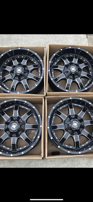 """New 20"""" black off road Rims 20 Wheels 20s Rines Negros Nuevos will Fit Ford F150 , Chevy Silverado, GMC Sierra , Toyota Tacoma / 4Runner , Nissan Tit for Sale in Dallas, TX"""