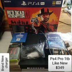 Ps4 Pro 1tb Like New. 1 Week Refund. Price Firm. Games Cost Extra. for Sale in Charlottesville,  VA