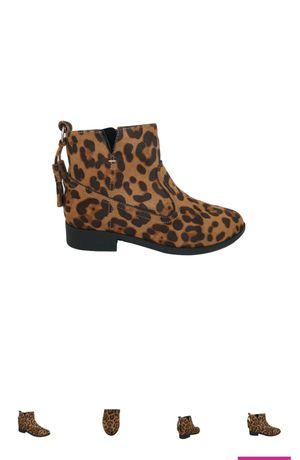 Leopard Print Girls Ankle Boots Kid Sizes 9 Zipper Side for Sale in Aiken, SC