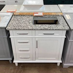 Sonoma 36 in. White with a Custom Granite Top & Basin for Sale in Roswell, GA
