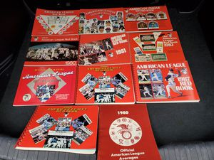 1970's and 1980s American League Red Books for Sale in Everett, WA