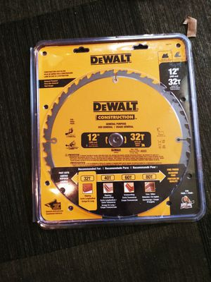DeWalt Construction Saw Blade for Sale in Lakewood, CO