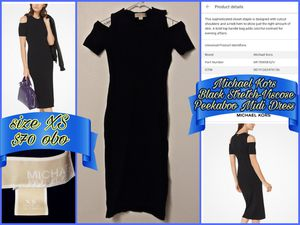 Michael Kors Black Stretch-Viscose dress size XS for Sale in Sanger, CA