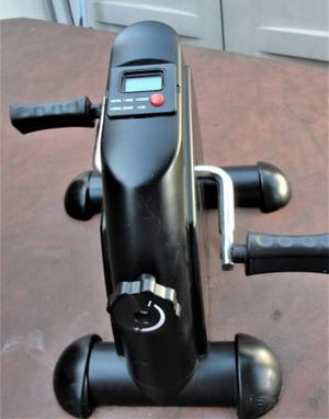 Portable Pedal Stationary Bike Under Desk Exercise Bike Machine - $30(Bristol, Pa. Features: Multi functional, indicating time, distance, and calori for Sale in Bristol, PA