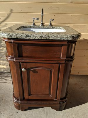 Granite top bathroom vanity sink with faucet for Sale in Graham, WA
