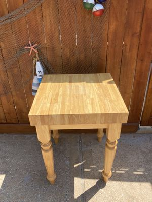 Solid oak butcher block kitchen island table for Sale in League City, TX