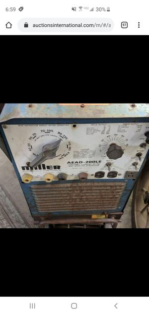 Miller gas welder generator ac DC arc stick welder for Sale in Herndon, VA