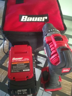 Bauer 1/2 20v lithium battery power tools home improvement drill and driver impact for Sale in Port St. Lucie, FL